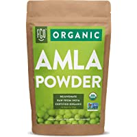 Organic Amla Powder (Amalaki) | 16oz Resealable Kraft Bag (1lb) | 100% Raw From...