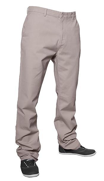 Urban Classics - Pantalón - recto - para hombre beige W33 : Amazon.es: Ropa y accesorios