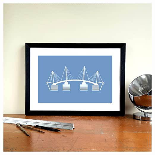 WTD Manchester City Minimalist Graphic Design - Lámina Decorativa ...