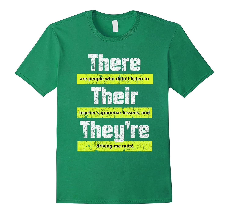 Funny English Teacher Grammar T-Shirt for Men and Women-CL