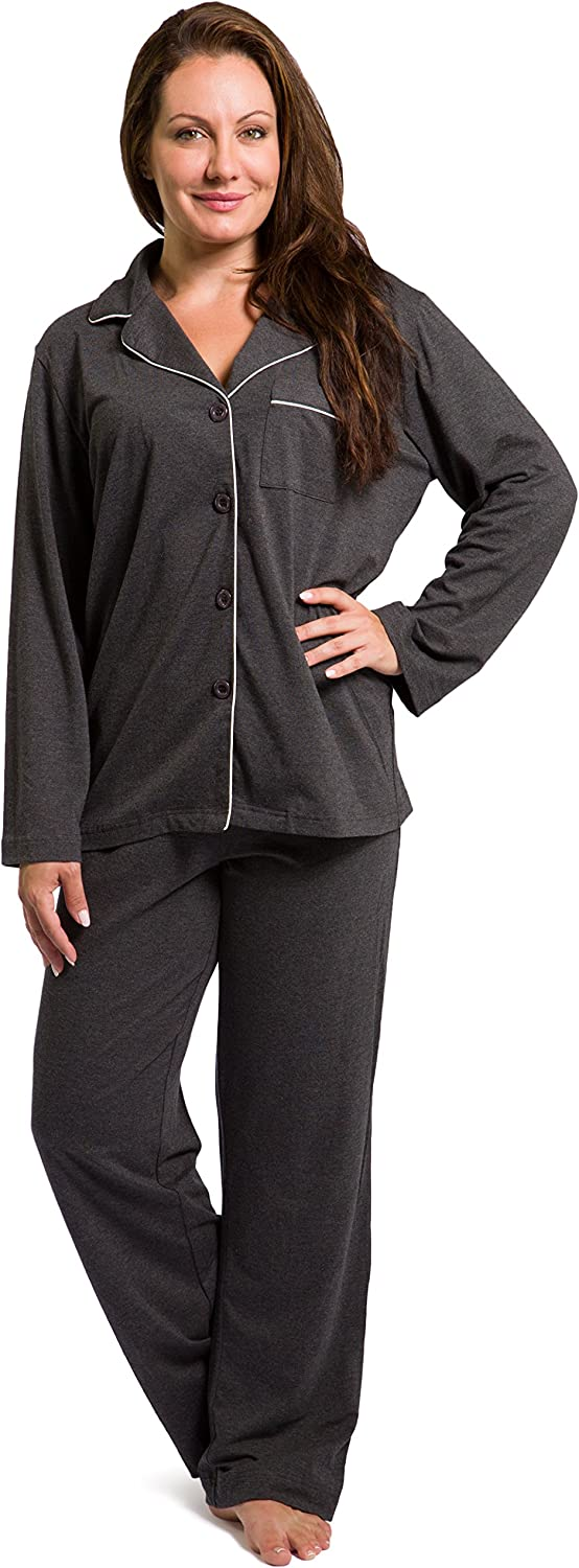 Fishers Finery Women's Ecofabric Full Length Pajama Set; Long Sleeve with Gift Box