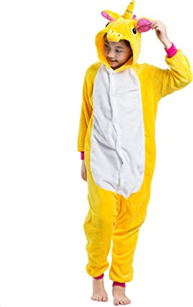 Hstyle Niños Sleepsuits De Dibujos Animados Caliente Pijamas De Franela De Halloween Mamelucos Unicornio