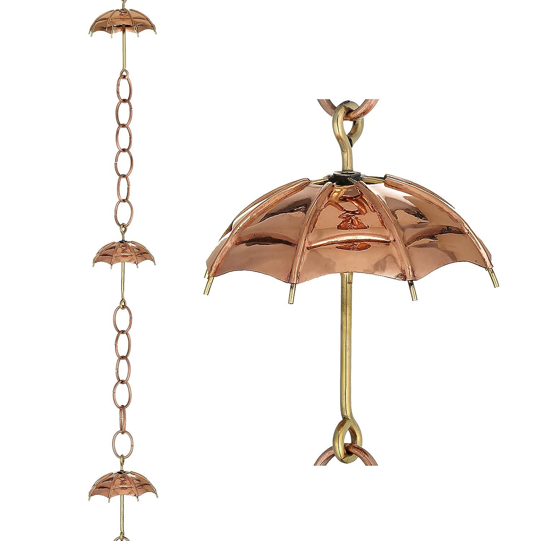 Good Directions 486P-8 Umbrella Rain Chain, Polished Copper (8-1/2-Feet) Inc.