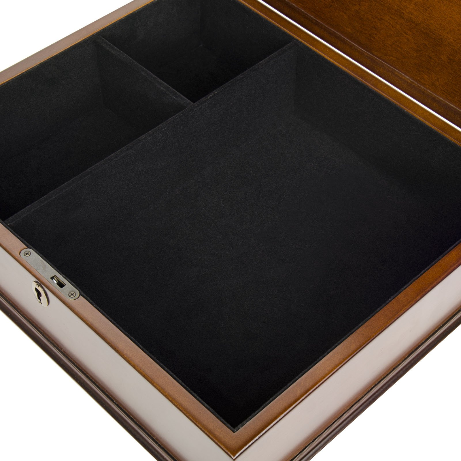 Large Romeo Memory Box Organizer Mahogany Wood Finish for Photo Album CD DVD USB & other Valuables Size 14 x 12 x 5 Inches by Arolly (Image #6)