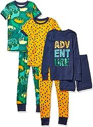 Spotted Zebra 6-Piece Snug-Fit Cotton Pajama Set