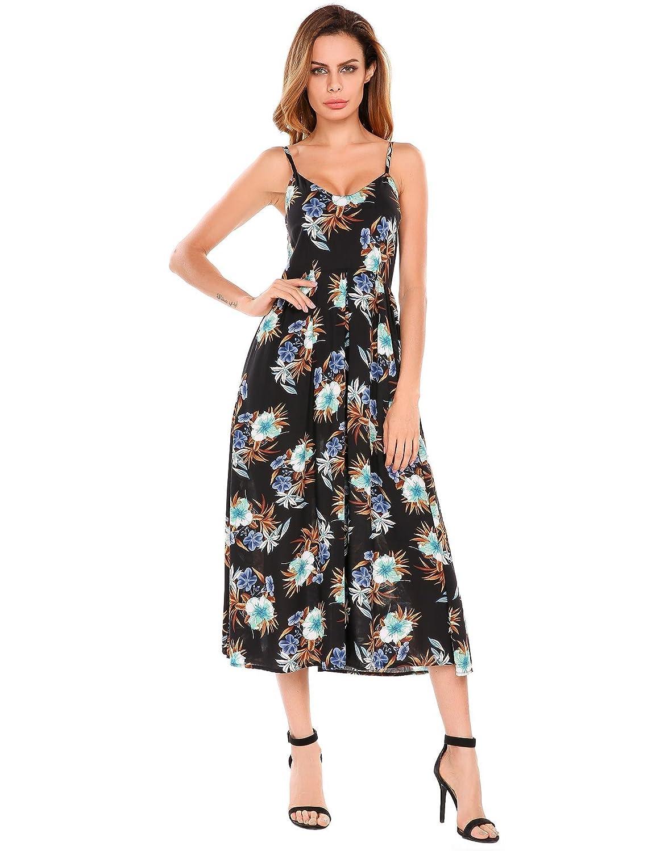 TelDen Women's Mid-Calf Dress Floral
