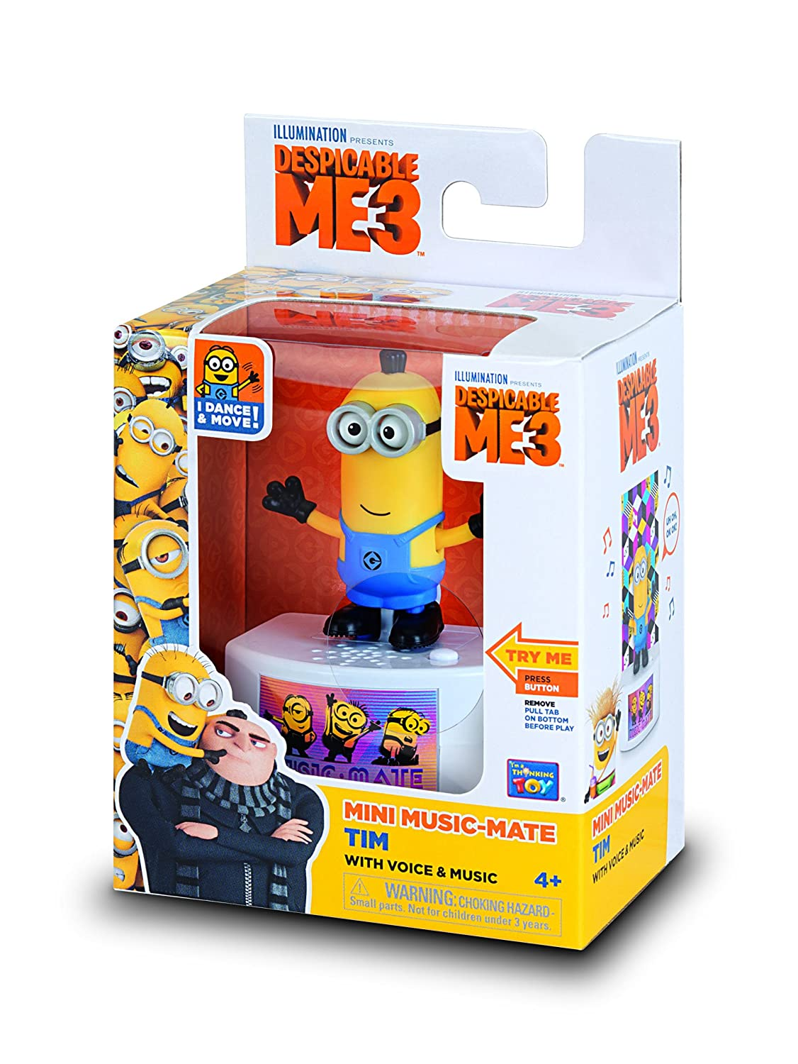 Despicable Me Music-Mate Minion Tim Toy Figure