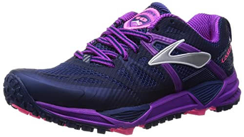 Brooks Cascadia 10 W, Women's Running Shoes, Midnight/Purple/Cactus Flower  3.5