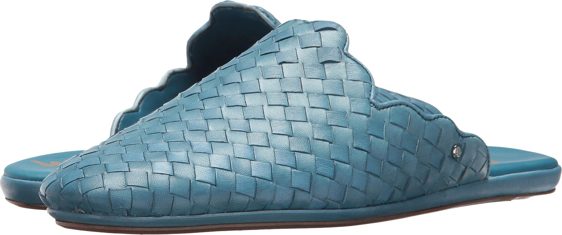 Sam Edelman Women's Katy Moroccan Blue Woven Leather 10.5 M US