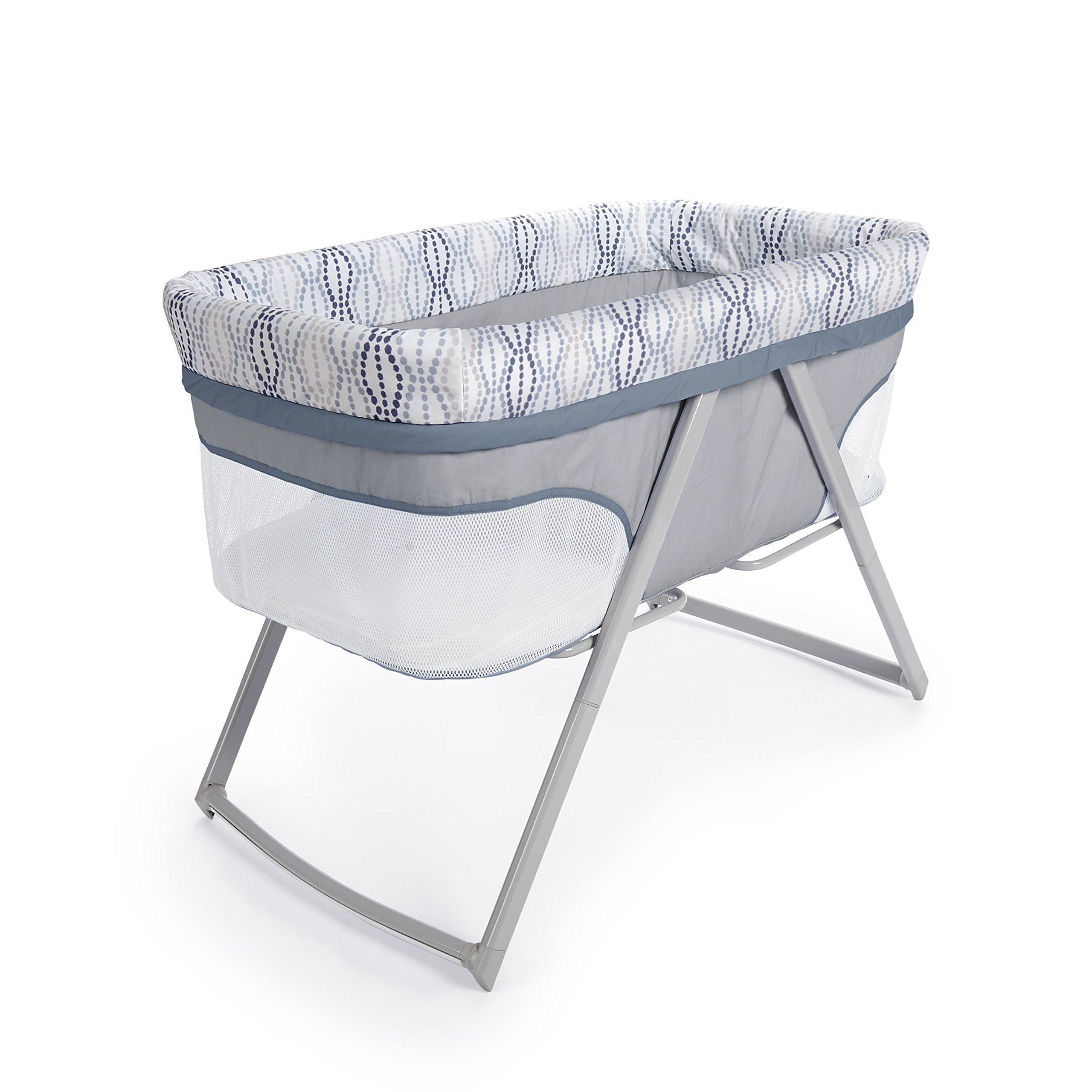 Ingenuity Foldaway Rocking Bassinet - Fletcher - Portable Folding Rocking Bassinet