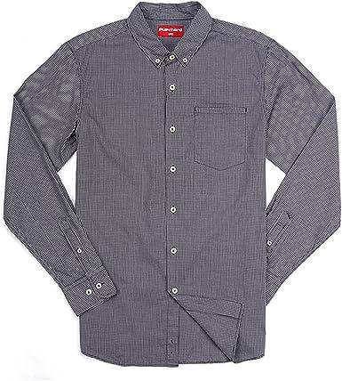 chocohoney hombre oscuro Micro camisa de manga larga), diseño ...