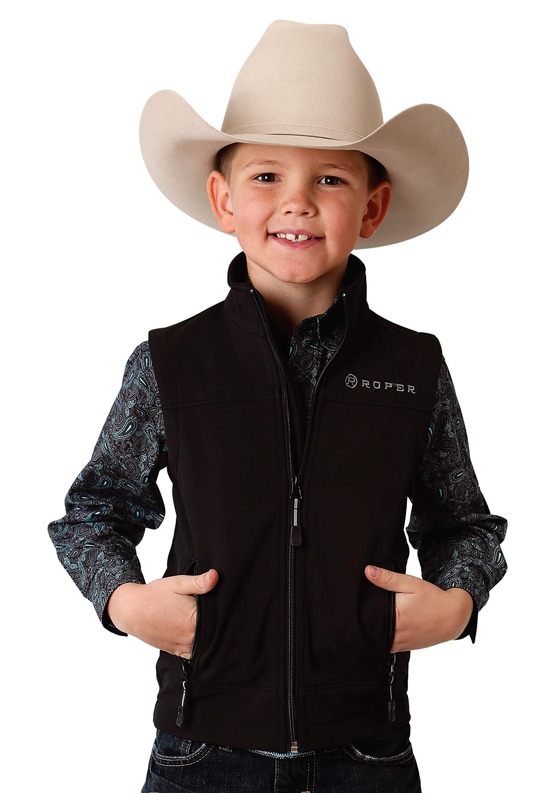 Roper Boys' Outerwear Vest 0782-7004, Black - X-Large by Roper