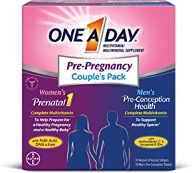ONE A DAY Men's & Women's Pre-Pregnancy Multivitamin Couple's Pack
