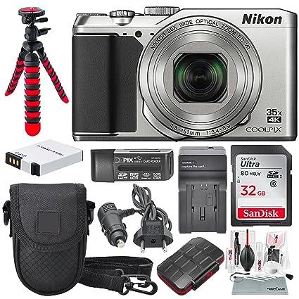 Nikon COOLPIX A900 cámara Digital (Plata) y Paquete de Accesorios ...