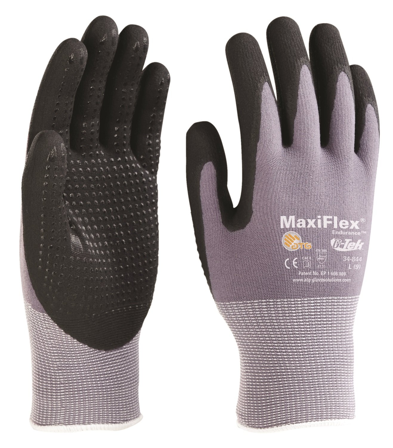 P.I.P 34-874-L G-TEK MAXIFLEX NITRILE COATED GLOVES SIZE LARGE 12 PAIRS NEW PIP