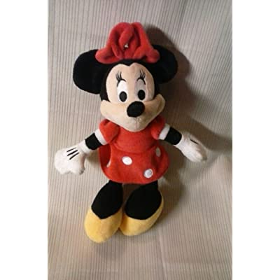 "10"" Plush Minnie Mouse in Red Pokadot Dress: Toys & Games"