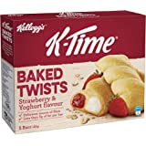 K-Time Kellogg's K-Time Baked Twists Strawberry & Yoghurt Flavour, 5 Count, Strawberry & Yoghurt