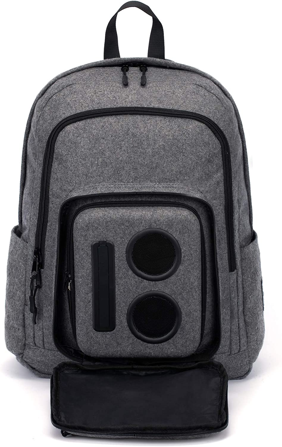 Bluetooth Speaker Backpack with 15 Watt Speakers & Subwoofer for PartiesFestivals BeachSchool. Rechargeable, Works with iPhone & Android (Gray,