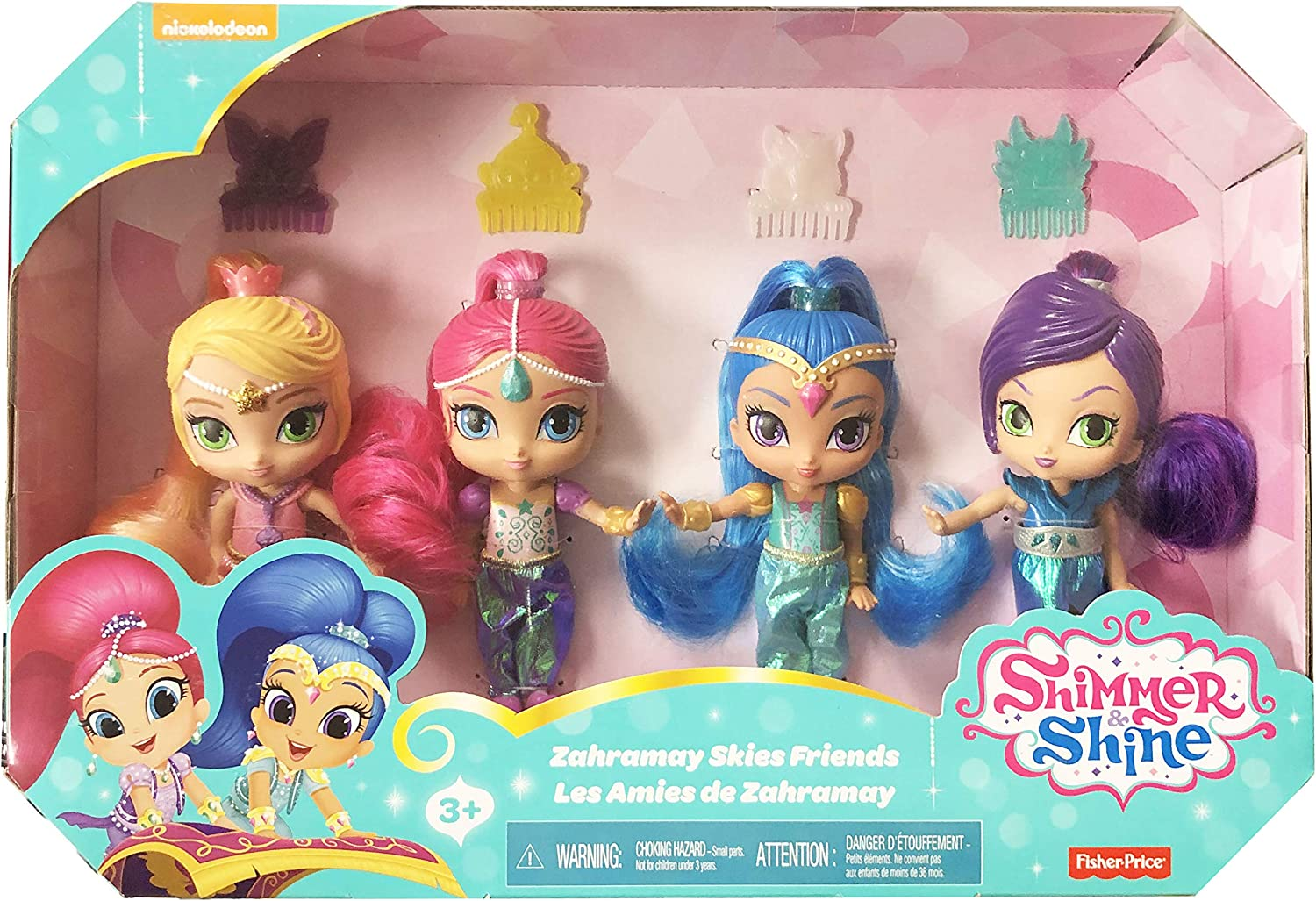 Amazon.es: Fisher-Price Shimmer y Shine 4 Muñecas con Shimmer ...