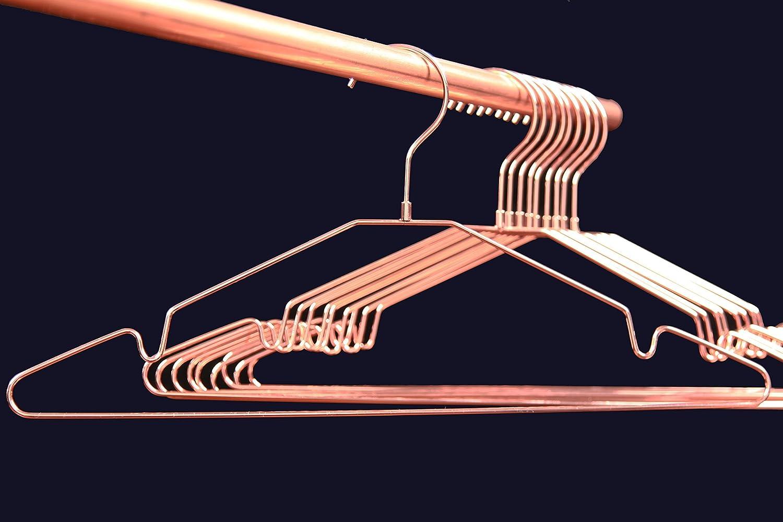 Premium Qualität - Kleiderbügel Kupfer / Rose-Gold, glänzend, 10er ...