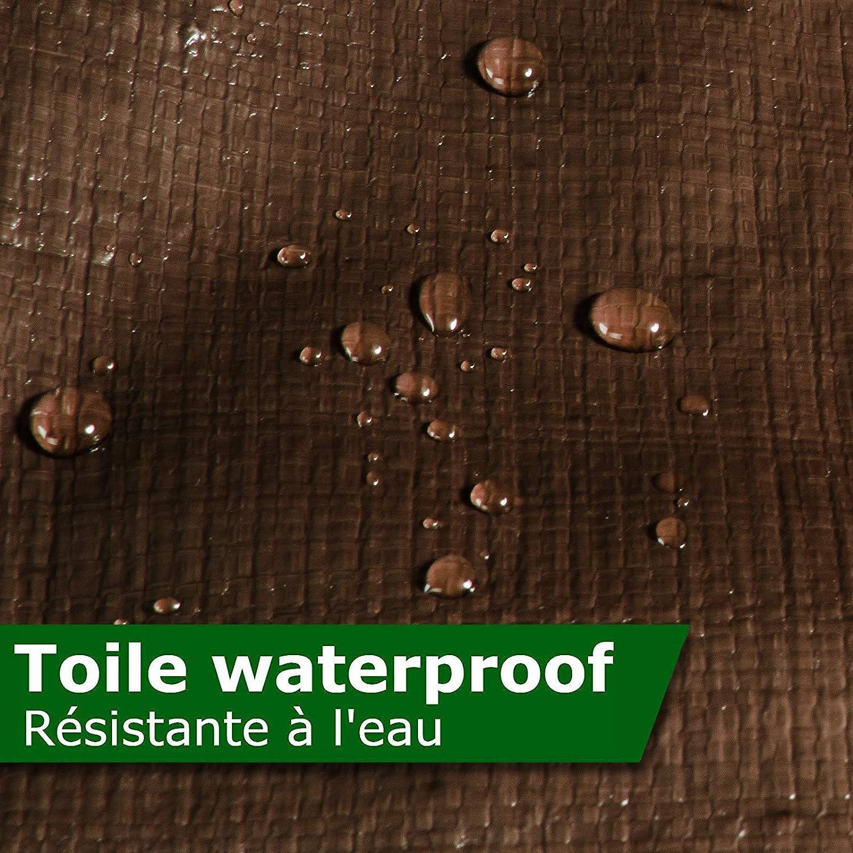 Muchos colores y tama/ños casa pura Lona impermeable 2x3 240g//m/² Verde Extremadamente resistente Con ojales Toldos impermeables exterior