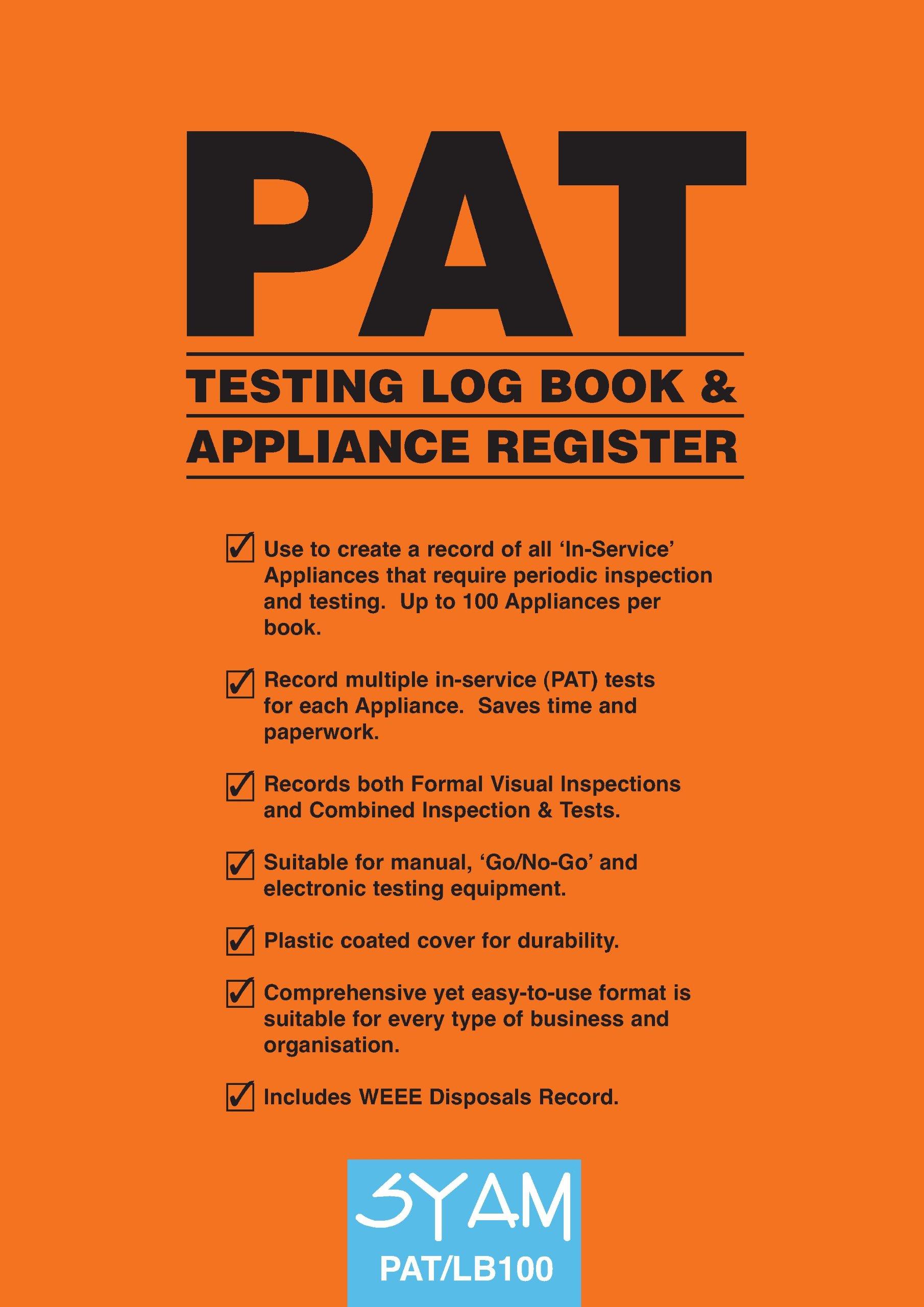 sc 1 st  Amazon UK & PAT TESTING LOG BOOK u0026 APPLIANCE REGISTER: Amazon.co.uk: SYAM: Books azcodes.com