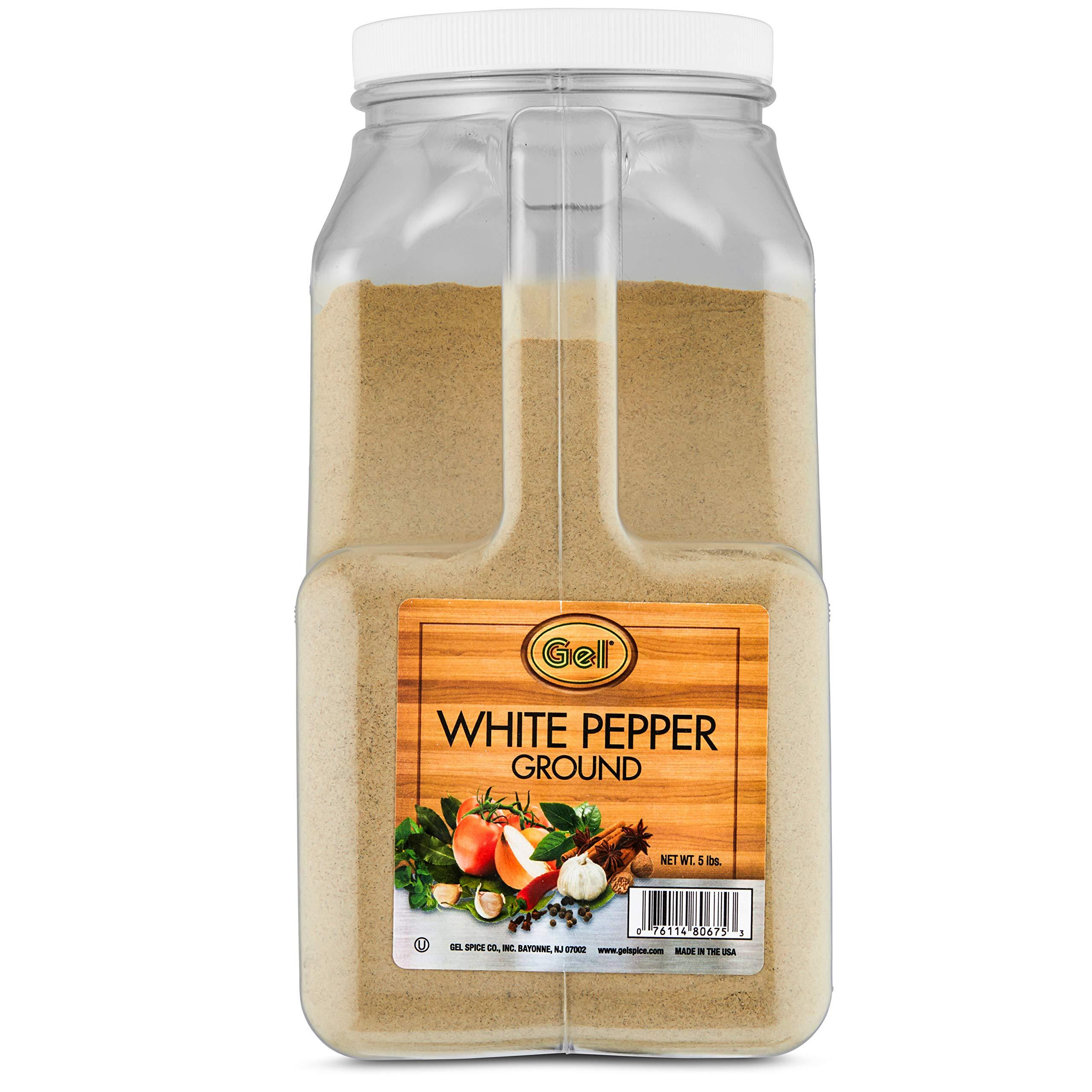 Gel Spice Ground White Pepper 5 lb  (Bulk Size)