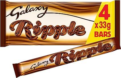 Galaxy Ripple Milk Chocolate Bars Multipack 4 X 33 G