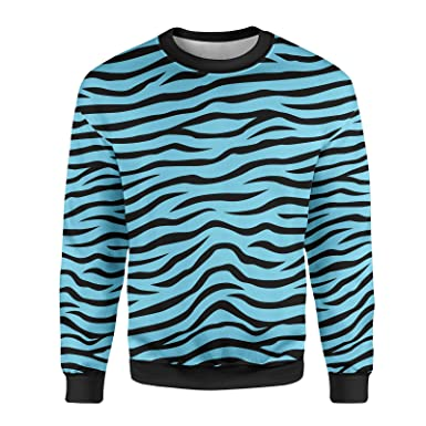 b25545631dbaf Queen of Cases Zebra Print Mens Sweatshirt at Amazon Men's Clothing ...