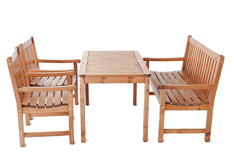 Gardenhome 4 Teiliges Set Garten Sitzgruppe Finnland Tischgruppe