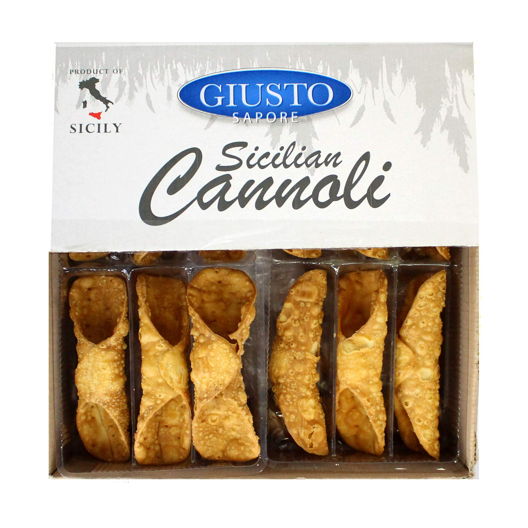 Giusto Sapore Sicilian Cannoli Shells - Large - 48 Shells - Imported from Italy and Family Owned Brand