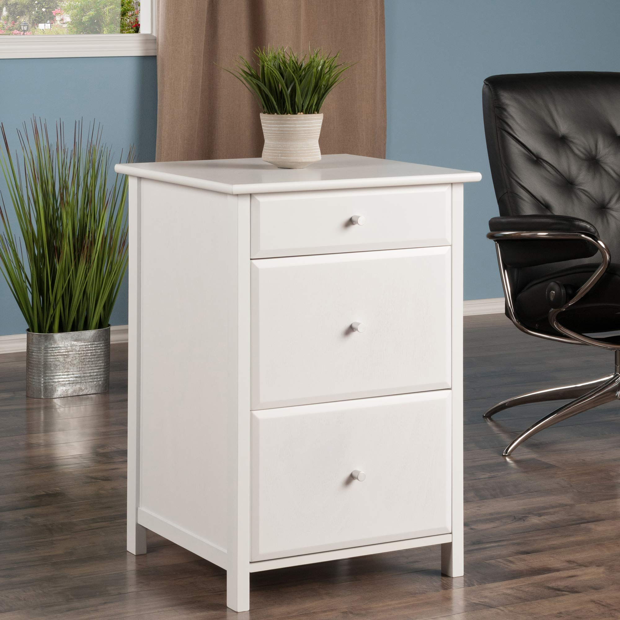 Winsome Wood 10321 Delta File Cabinet White Home Office, by Winsome Wood (Image #2)