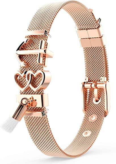 THIORA® Armband mit Charms | Anhänger Charms | Rosegold