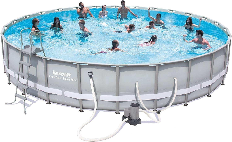 Bestway juego de piscina con marco de acero, 26 pies x 52 pulgadas: Amazon.es: Jardín