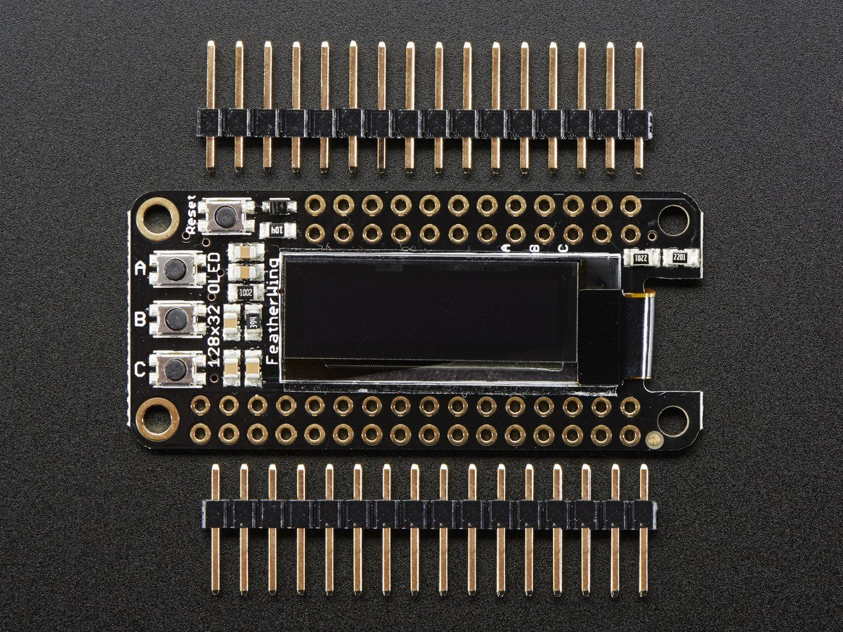 Adafruit FeatherWing OLED - 128x32 OLED Add-on for All Feath