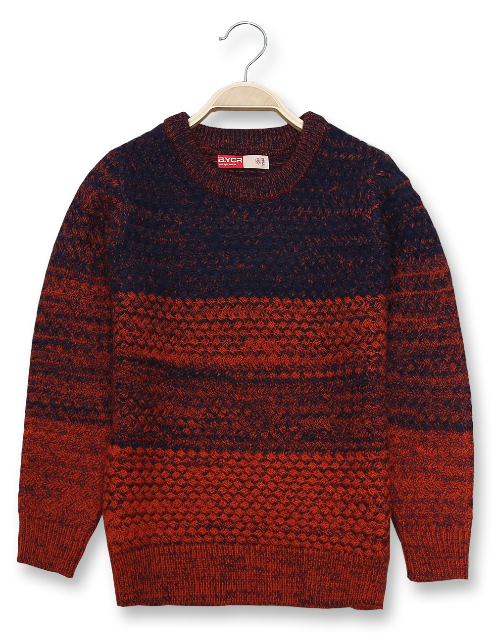 BYCR Boys' Fashion Warm Pullover Crew Neck Knitted Sweater Age 4-16 Years