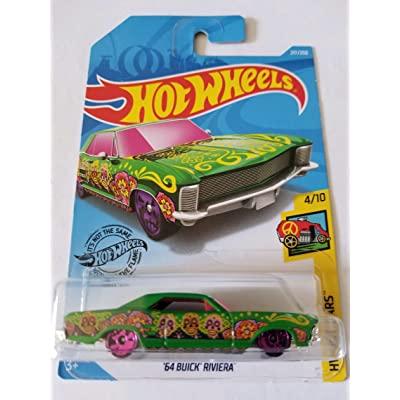 Hot Wheels 2020 Hw Art Cars - '64 Buick Riviera, Green 217/250: Toys & Games