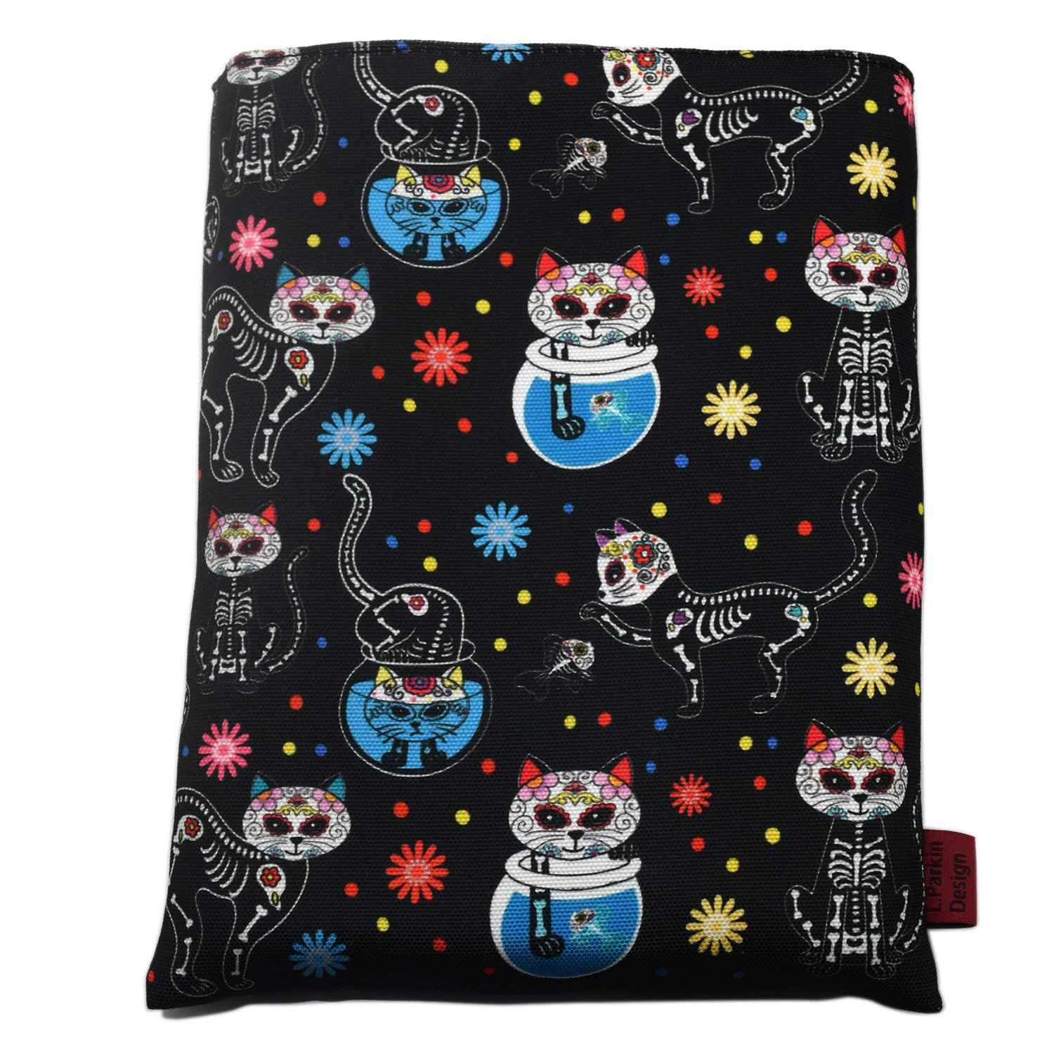 Book Sleeve Day of The Dead Cats Book Cover Medium Book Sleeves Teen Gift (Medium) by LParkin
