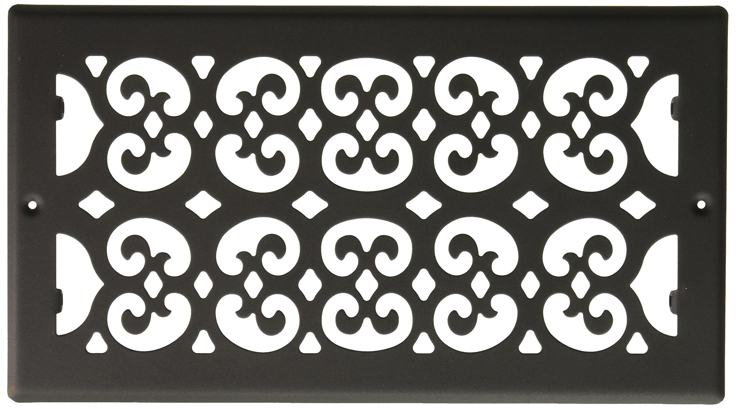 Decor Grates ST610R 6-Inch by 10-Inch Painted Return Air, Black Textured