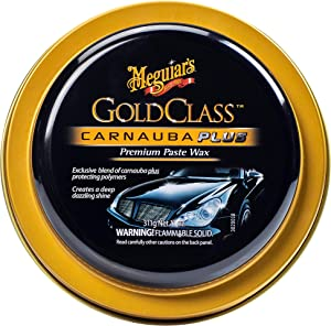Meguiar's Gold Class Carnauba Plus Premium Paste Wax – Creates a Deep Dazzling Shine – G7014J, 11 oz