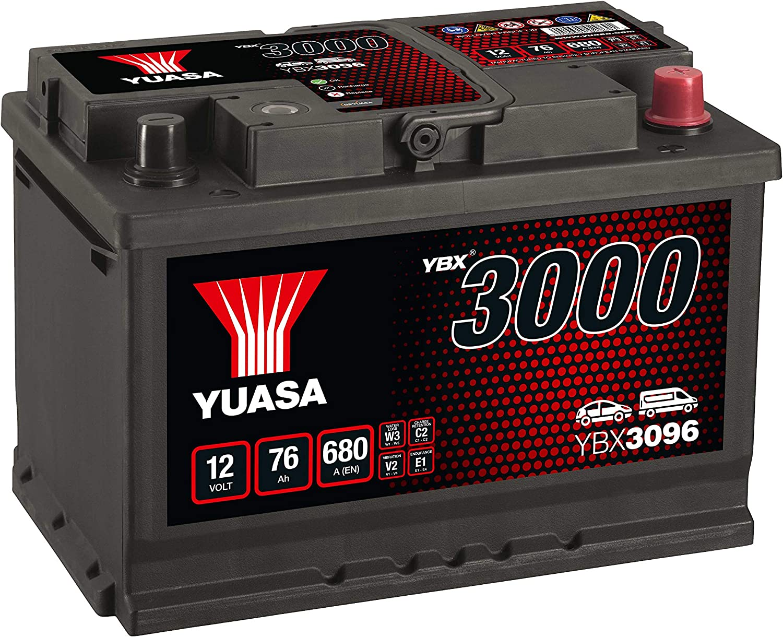 Yuasa YBX3096 Batería de coche SMF Starter recargable 12V 75Ah 650A
