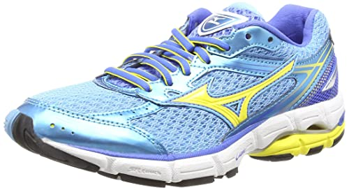 b2c30d615bf2 Mizuno Wave Connect 3, Women's Running Shoes, Blue (Grotto/Buttercup/Palace