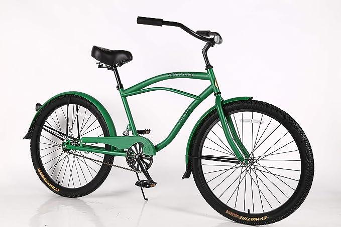 Movable Beach Cruiser Bike - Bicicleta para hombre, marco de acero ...