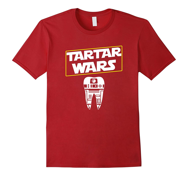 Tartar Wars Dental Hygienists Funny T-Shirt Graphic Apparel-FL