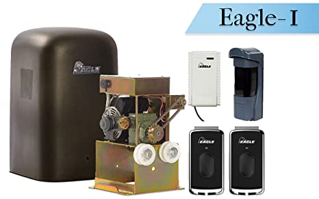 Receiver and EG111 Monitored Photo Eye Included Eagle-1000-FR 1//2 HP Slide Gate Operator 27 /& 600 lbs Gate Capacity FREE 2 Remotes