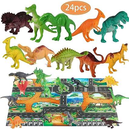 Amazon.com: Yansion Dinosaur Toys Juego de figuras de ...