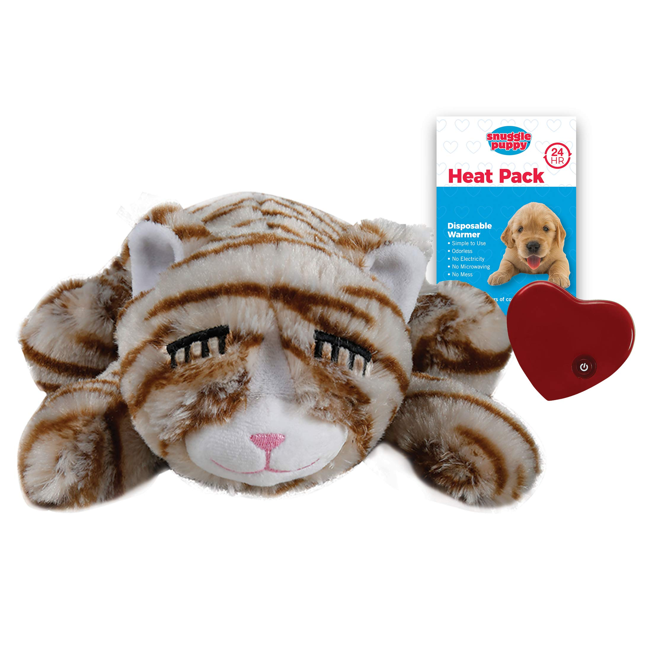 SmartPetLove - Snuggle Kitty - Behavioral Aid Toy for Pets - Tan Tiger by SnuggleKitties