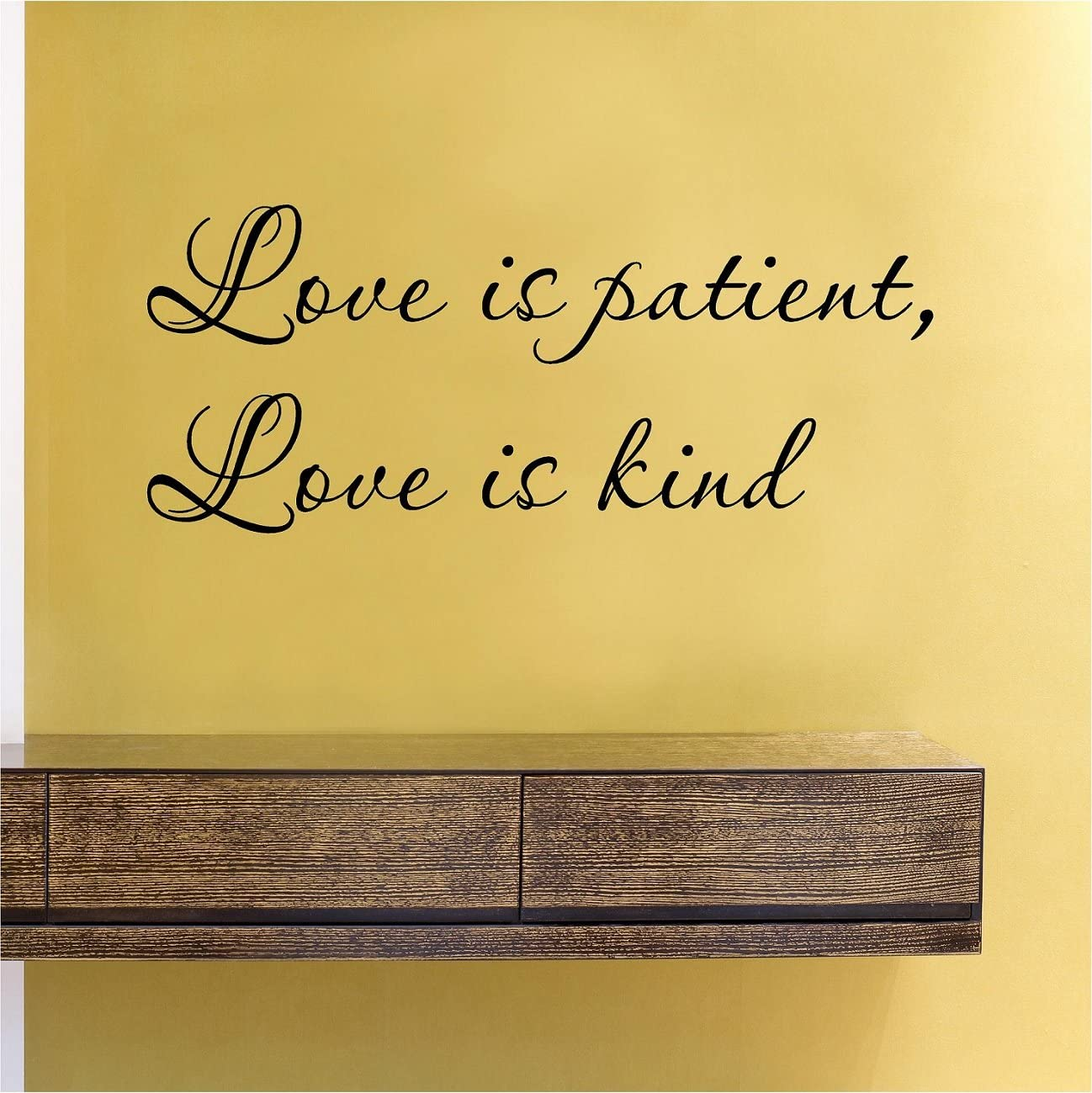 Love is patient Love is kind Vinyl Wall Decals Quotes Sayings Words Art Decor Lettering Vinyl Wall Art Inspirational Uplifting