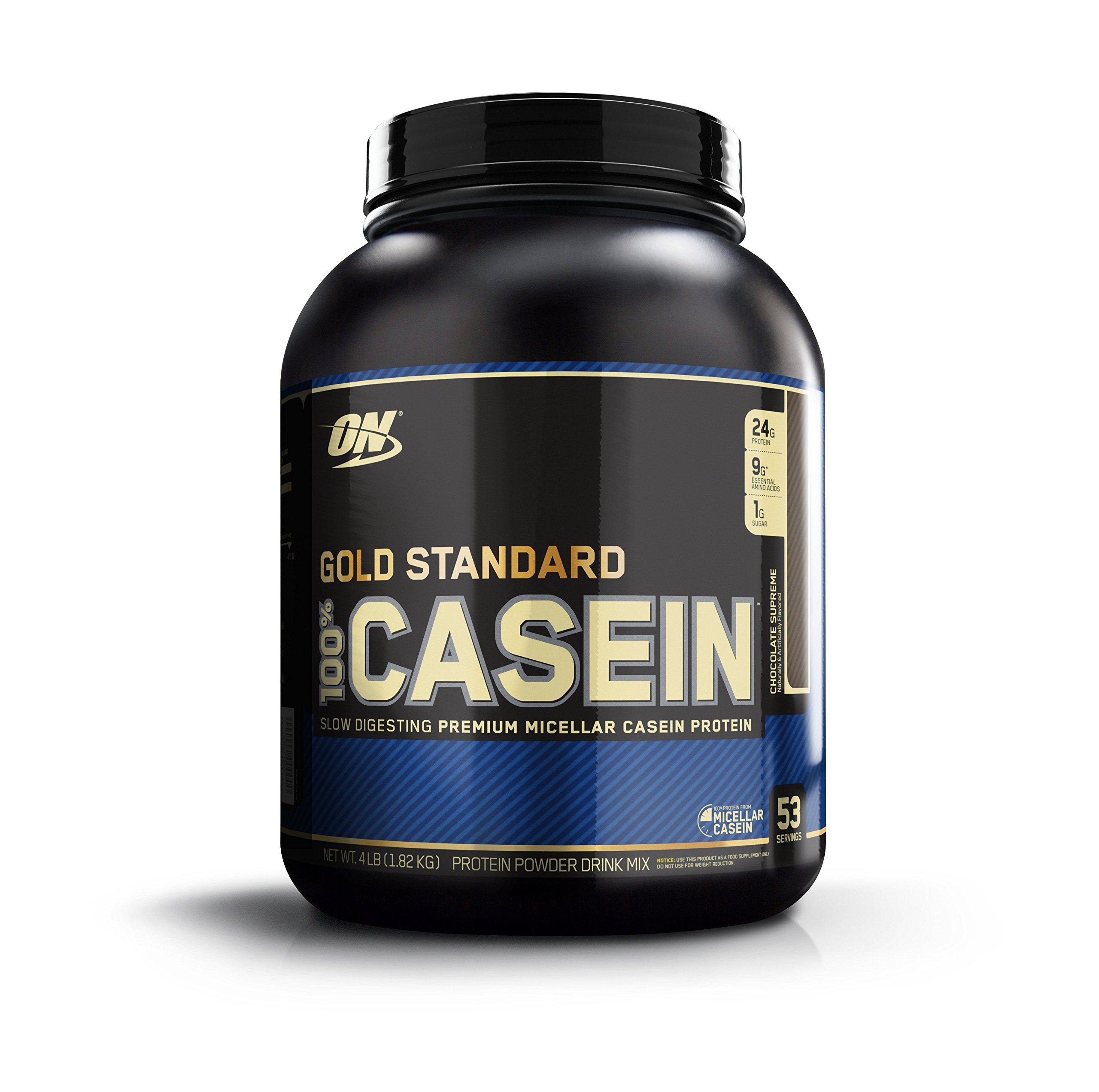 Optimum Nutrition Gold Standard 100% Micellar Casein Protein Powder, Slow Digtesting to Support Appetite Control, Overnight Muscle Recovery, Chocolate Supreme, 4 Pound