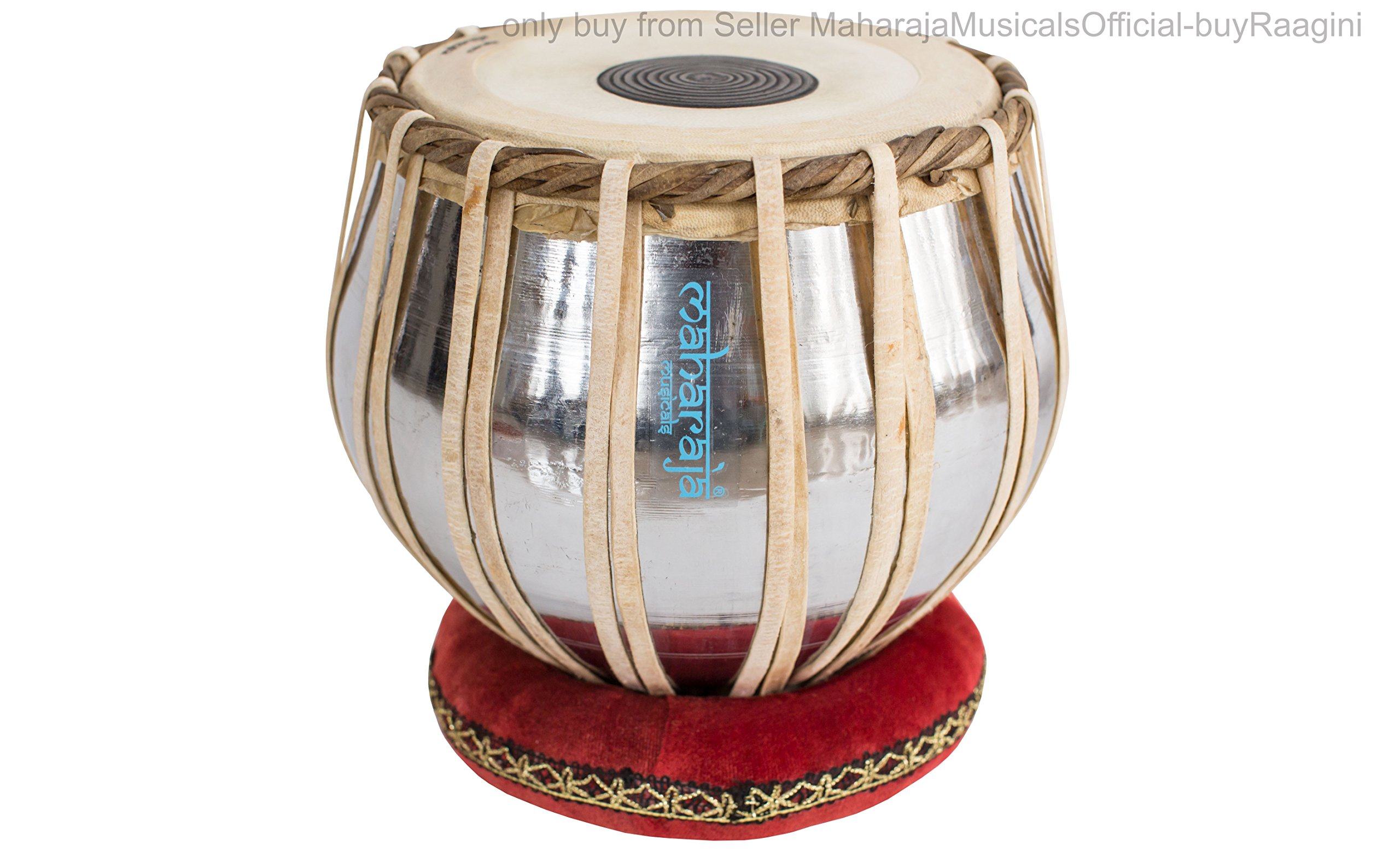 MAHARAJA Student Tabla Drum Set, Basic Tabla Set, Steel Bayan, Dayan with Book, Hammer, Cushions & Cover - Perfect Tablas for Students and Beginners on Budget (PDI-IB) Tabla Drums, Indian Hand Drums by Maharaja Musicals (Image #3)